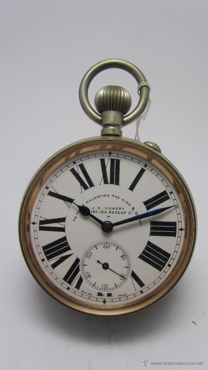 MAGNIFICO RELOJ TIPO GOLIAT DE LA CASA J.C VICKERY. AÑO 1900 (Relojes - Bolsillo Carga Manual)