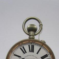 Relojes de bolsillo: MAGNIFICO RELOJ TIPO GOLIAT DE LA CASA J.C VICKERY. AÑO 1900. Lote 50046809