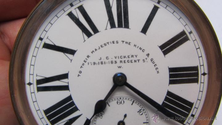 Relojes de bolsillo: Magnifico reloj tipo Goliat de la casa J.C Vickery. Año 1900 - Foto 7 - 50046809