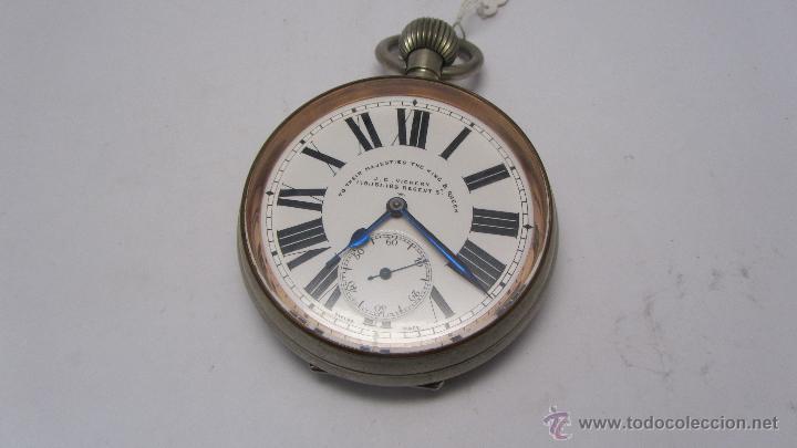 Relojes de bolsillo: Magnifico reloj tipo Goliat de la casa J.C Vickery. Año 1900 - Foto 9 - 50046809