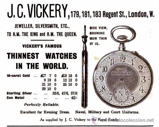 Relojes de bolsillo: Magnifico reloj tipo Goliat de la casa J.C Vickery. Año 1900 - Foto 11 - 50046809