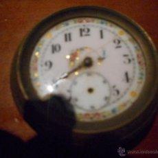 Relojes de bolsillo: ANTIGUO Y PRECIOSO RELOJ CON ESFERA DECORADA CON DETALLES DORADOS. Lote 50248427