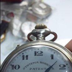 Relojes de bolsillo: RELOJ DE BOLSILLO SISTEMA ROSKOPF CON GUARDAPOLVO DE CRISTAL FUNCIONANDO. Lote 50818992