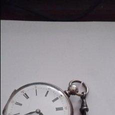 Relojes de bolsillo: RELOJ DE BOLSILLO. CON GRABACION EN SU INTERIOR. FUNCIONANDO Y CON SU LLAVE. Lote 50916749