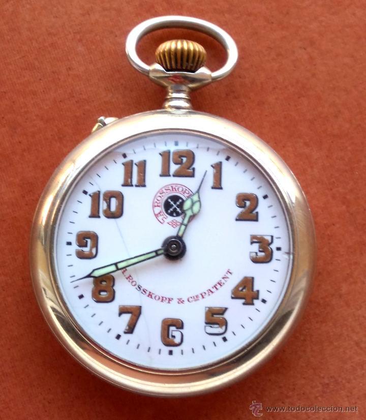 RELOJ DE BOLSILLO ROSSKOPF-ROSKOPF ORIGINAL,SIGLOXIX,EL ROLEX DE EPOCA,DE COLECCION NO DE USO DIARIO (Relojes - Bolsillo Carga Manual)
