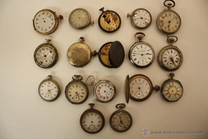 Lote 17 relojes de bolsillo para piezas y reca comprar relojes antiguos de bolsillo carga Relojes de decoracion