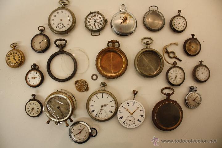 Lote de relojes de bolsillo y carcasa para pie comprar relojes antiguos de bolsillo carga - Relojes de decoracion ...