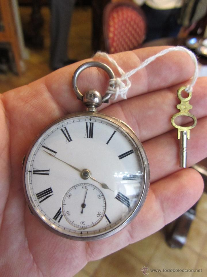 RELOJ DE BOLSILLO CON LLAVE - PLATA (Relojes - Bolsillo Carga Manual)