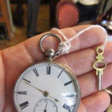 Relojes de bolsillo: RELOJ DE BOLSILLO CON LLAVE - PLATA. Lote 51444906