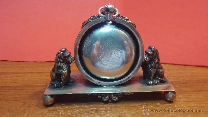 GRAN RELOJ CON CAJA DE PLATA MACIZA WALTHAM CON 126GR DE PESO, DE 1906, CON RELOJERA DE PLATA MACIZA (Relojes - Bolsillo Carga Manual)