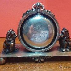 Relojes de bolsillo: GRAN RELOJ CON CAJA DE PLATA MACIZA WALTHAM CON 126GR DE PESO, DE 1906, CON RELOJERA DE PLATA MACIZA. Lote 49075738