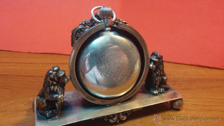 Relojes de bolsillo: Gran reloj con caja de plata maciza WALTHAM con 126gr de peso, de 1906, con relojera de plata maciza - Foto 18 - 49075738