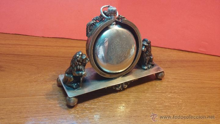 Relojes de bolsillo: Gran reloj con caja de plata maciza WALTHAM con 126gr de peso, de 1906, con relojera de plata maciza - Foto 19 - 49075738
