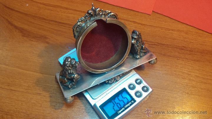 Relojes de bolsillo: Gran reloj con caja de plata maciza WALTHAM con 126gr de peso, de 1906, con relojera de plata maciza - Foto 20 - 49075738