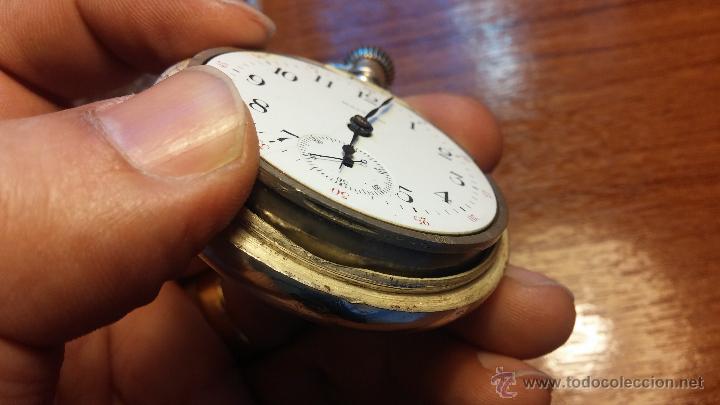 Relojes de bolsillo: Gran reloj con caja de plata maciza WALTHAM con 126gr de peso, de 1906, con relojera de plata maciza - Foto 68 - 49075738