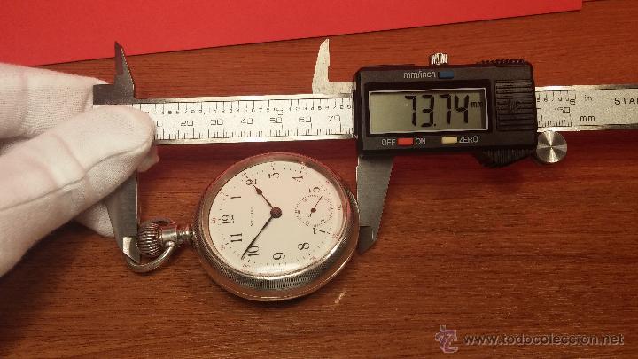 Relojes de bolsillo: Gran reloj con caja de plata maciza WALTHAM con 126gr de peso, de 1906, con relojera de plata maciza - Foto 90 - 49075738