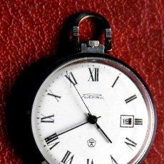 Relojes de bolsillo: PRECIOSO RELOJ RUSO DE BOLSILLO AÑOS 60/70 MARCA RAKETA CON 19 RUBIES Y FECHA. Lote 49828477