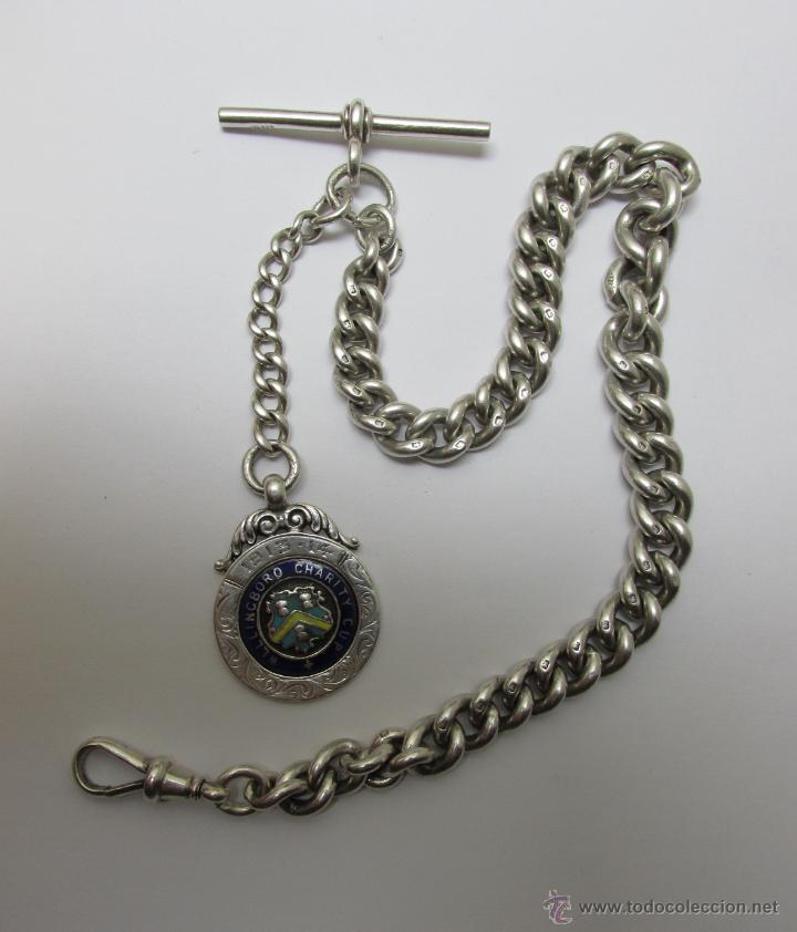 ee9392f410b5 Cadena de plata 0.925 para reloj de bolsillo - Vendido en Venta ...