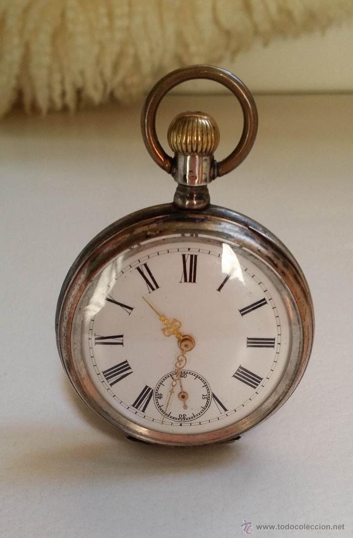 RELOJ DE BOLSILLO DAMA / PLATA / CIRCA 1900 (Relojes - Bolsillo Carga Manual)