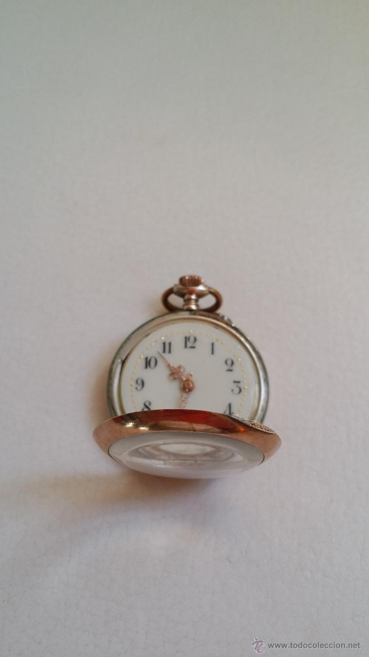Relojes de bolsillo: Reloj de bolsillo DAMA / Plata / circa 1900 - Foto 3 - 52593408