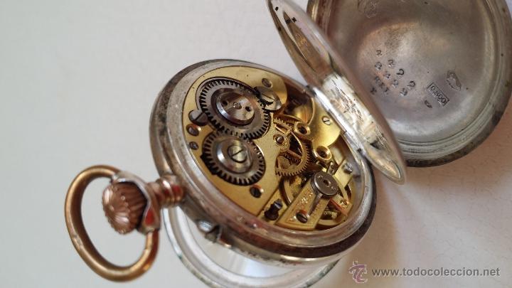 Relojes de bolsillo: Reloj de bolsillo DAMA / Plata / circa 1900 - Foto 6 - 52593408