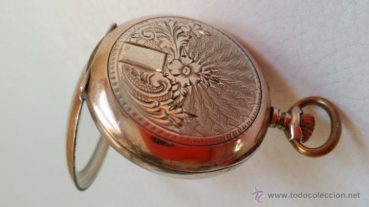 Relojes de bolsillo: Reloj de bolsillo DAMA / Plata / circa 1900 - Foto 9 - 52593408