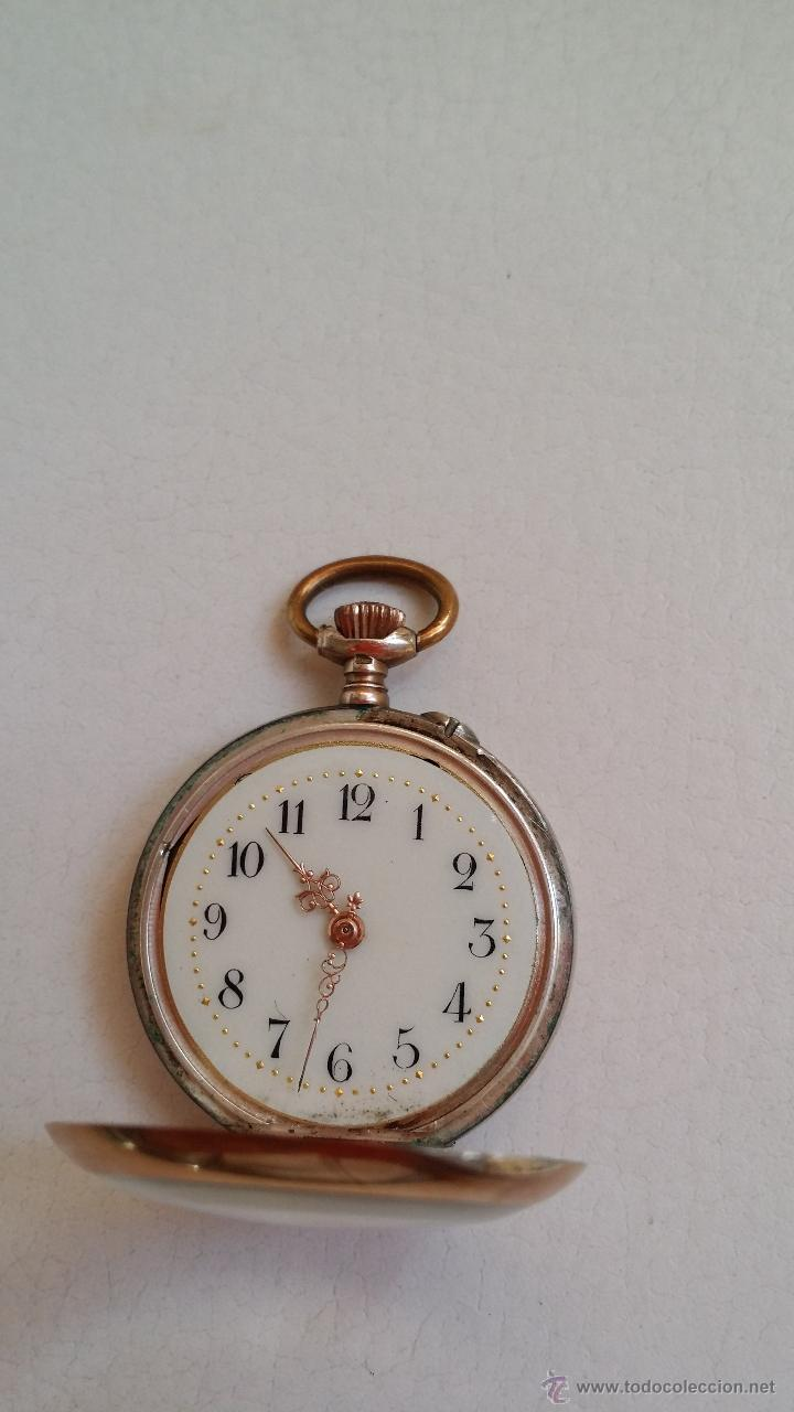 Relojes de bolsillo: Reloj de bolsillo DAMA / Plata / circa 1900 - Foto 10 - 52593408