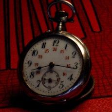 Relojes de bolsillo: RELOJ DE BOLSILLO, PLATA MACIZA. Lote 52786180