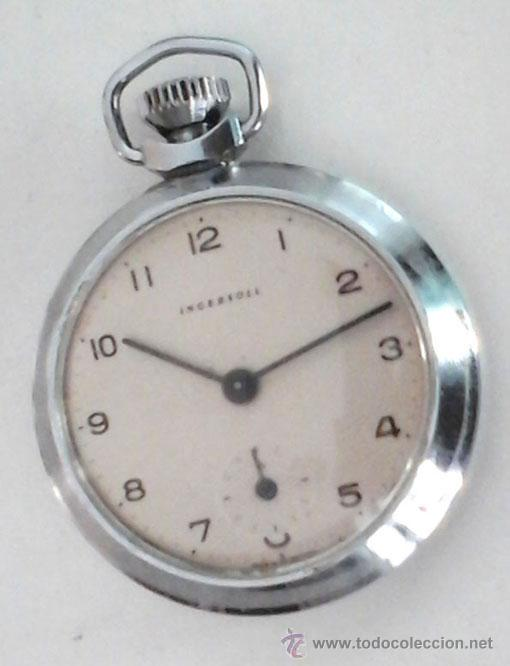 RELOJ DE BOLSILLO INGLÉS MARCA INGERSOLL. FUNCIONANDO (Relojes - Bolsillo Carga Manual)