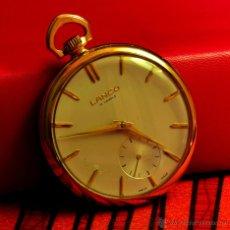 Relojes de bolsillo: RELOJ DE BOLSILLO LANCO, SUIZO, CAJA CHAPADA EN ORO 20 MICRONES, MUY BUEN ESTADO. Lote 52911764