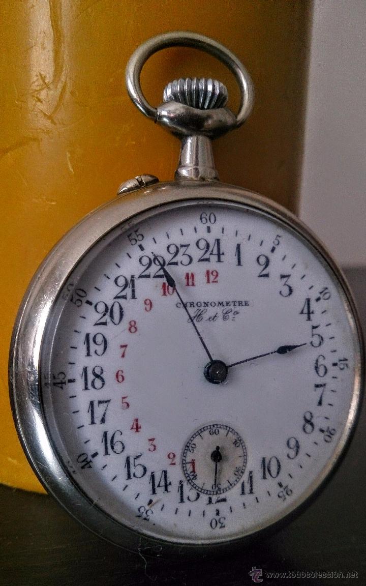 RELOJ DE BOLSILLO SUIZO 24HORAS H&CO. C1920 (Relojes - Bolsillo Carga Manual)