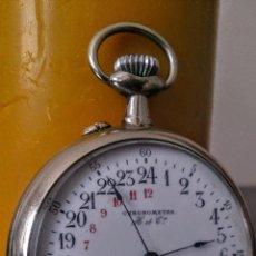 Relojes de bolsillo: RELOJ DE BOLSILLO SUIZO 24HORAS H&CO. C1920. Lote 52956882