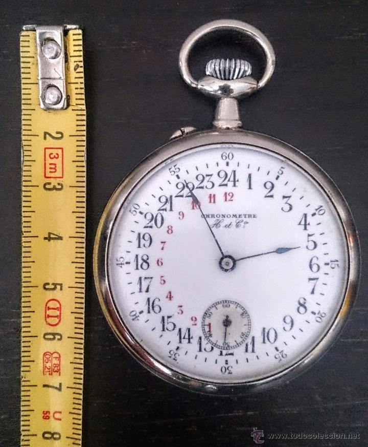 Relojes de bolsillo: Reloj de Bolsillo suizo 24Horas H&Co. c1920 - Foto 5 - 52956882
