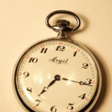 Relojes de bolsillo: RELOJ BOLSILLO CARGA MANUAL ARGIL 17 JEWELS 42MM . Lote 53079604