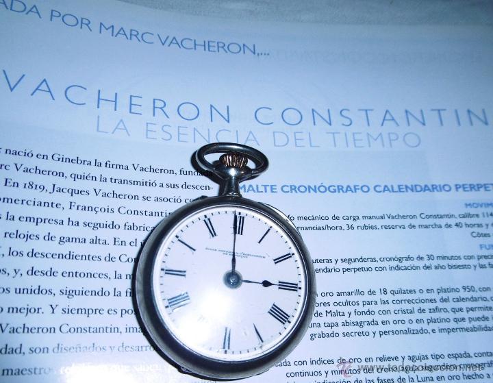 Relojes de bolsillo: OPORTUNIDAD DE TENER UNA PIEZA HISTORICA VACHERON CONSTANTIN RELOJ BOLSILLO PLATA NAZI - Foto 6 - 53099423