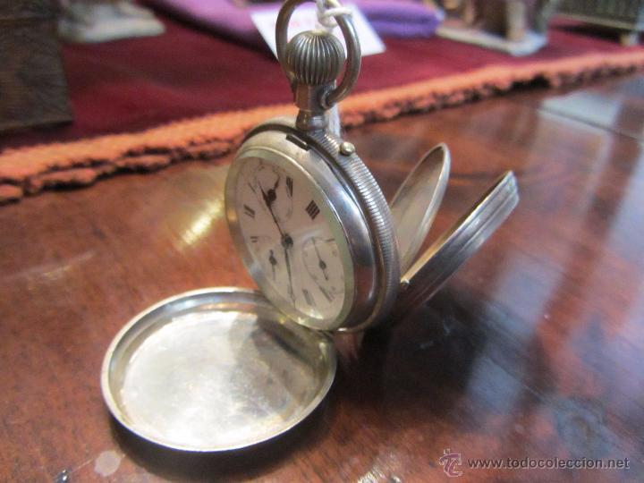 Relojes de bolsillo: Precioso Reloj de Bolsillo Borel Geneve Plata 15 Rubis - Foto 2 - 53183931