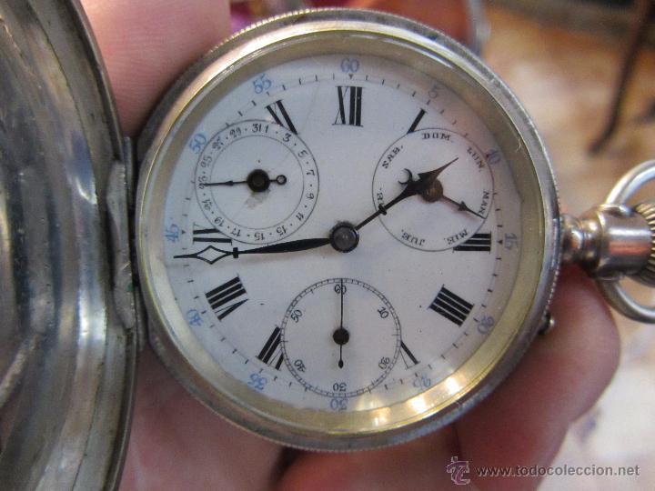 Relojes de bolsillo: Precioso Reloj de Bolsillo Borel Geneve Plata 15 Rubis - Foto 5 - 53183931