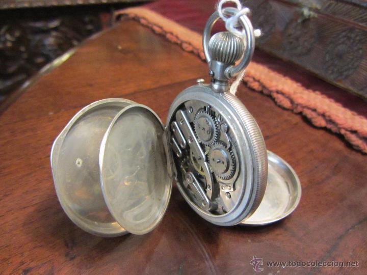 Relojes de bolsillo: Precioso Reloj de Bolsillo Borel Geneve Plata 15 Rubis - Foto 8 - 53183931