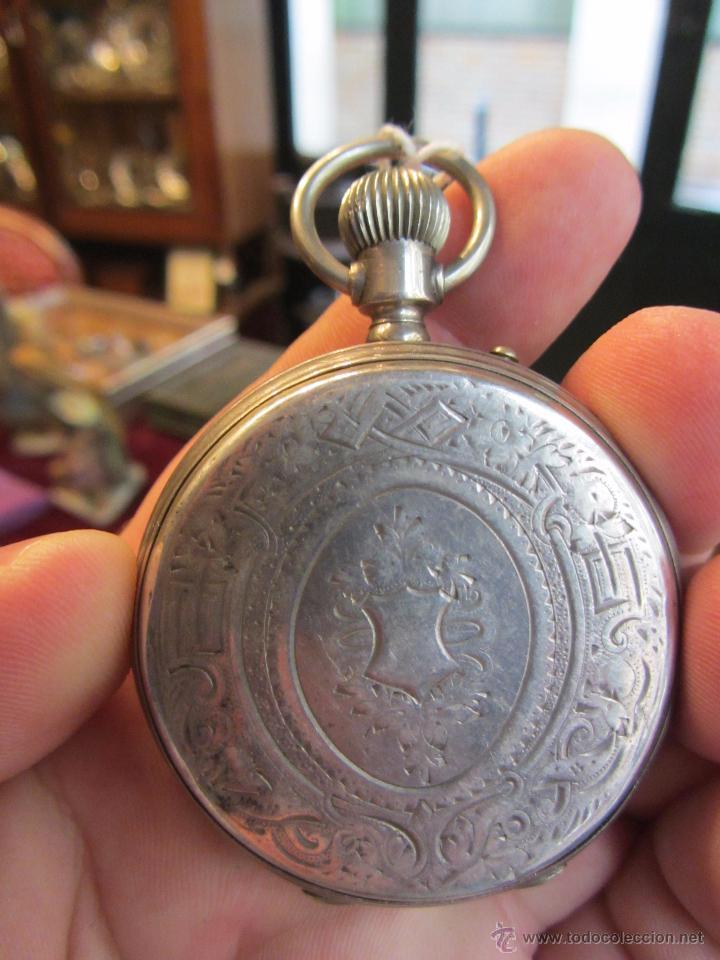 Relojes de bolsillo: Precioso Reloj de Bolsillo Borel Geneve Plata 15 Rubis - Foto 9 - 53183931