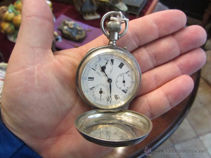 Relojes de bolsillo: Precioso Reloj de Bolsillo Borel Geneve Plata 15 Rubis - Foto 11 - 53183931