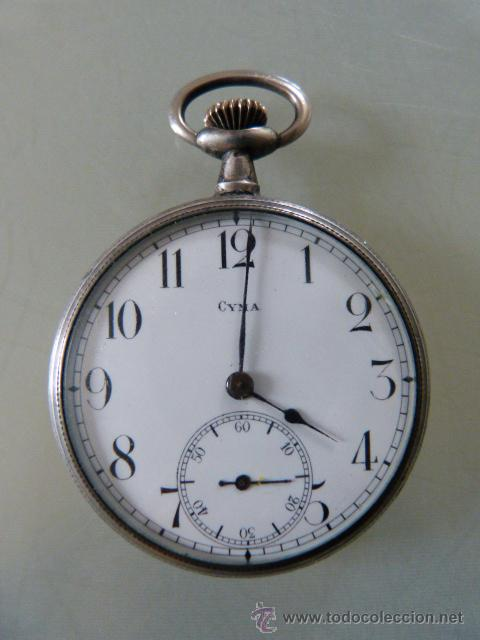 Reloj Cyma De Plata Antiguo De Bolsillo Comprar Relojes Antiguos