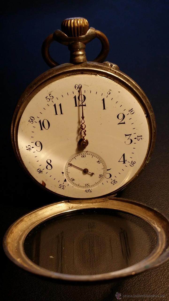 RELOJ DE BOLSILLO REMONTOIR CYLINDRE 10 / PLATA 800 (Relojes - Bolsillo Carga Manual)