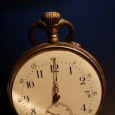 Relojes de bolsillo: RELOJ DE BOLSILLO REMONTOIR CYLINDRE 10 / PLATA 800. Lote 53374802