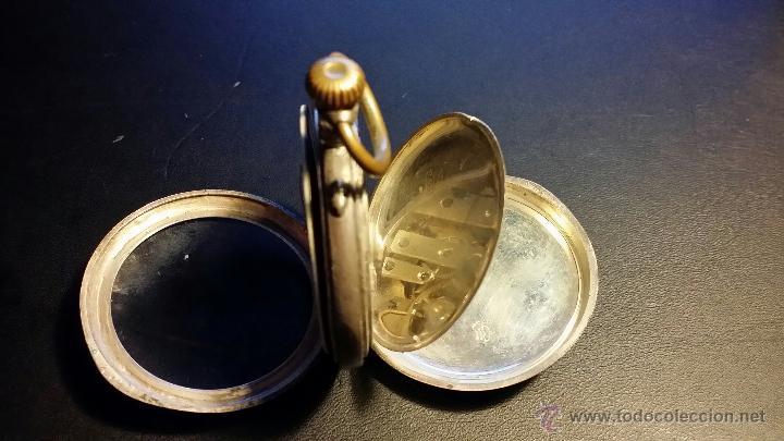 Relojes de bolsillo: reloj de bolsillo remontoir cylindre 10 / plata 800 - Foto 2 - 53374802