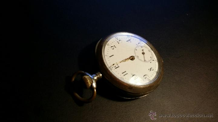 Relojes de bolsillo: reloj de bolsillo remontoir cylindre 10 / plata 800 - Foto 6 - 53374802