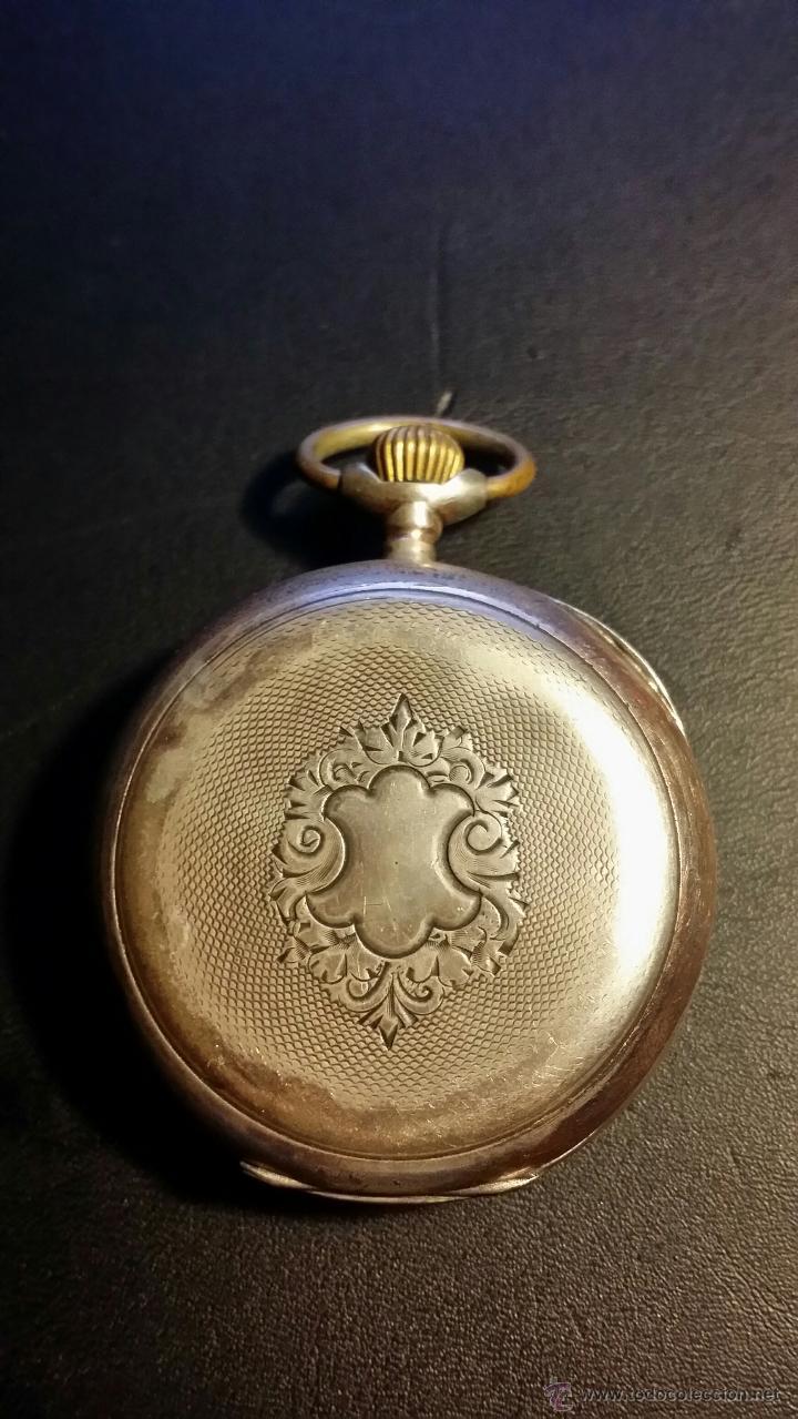 Relojes de bolsillo: reloj de bolsillo remontoir cylindre 10 / plata 800 - Foto 7 - 53374802