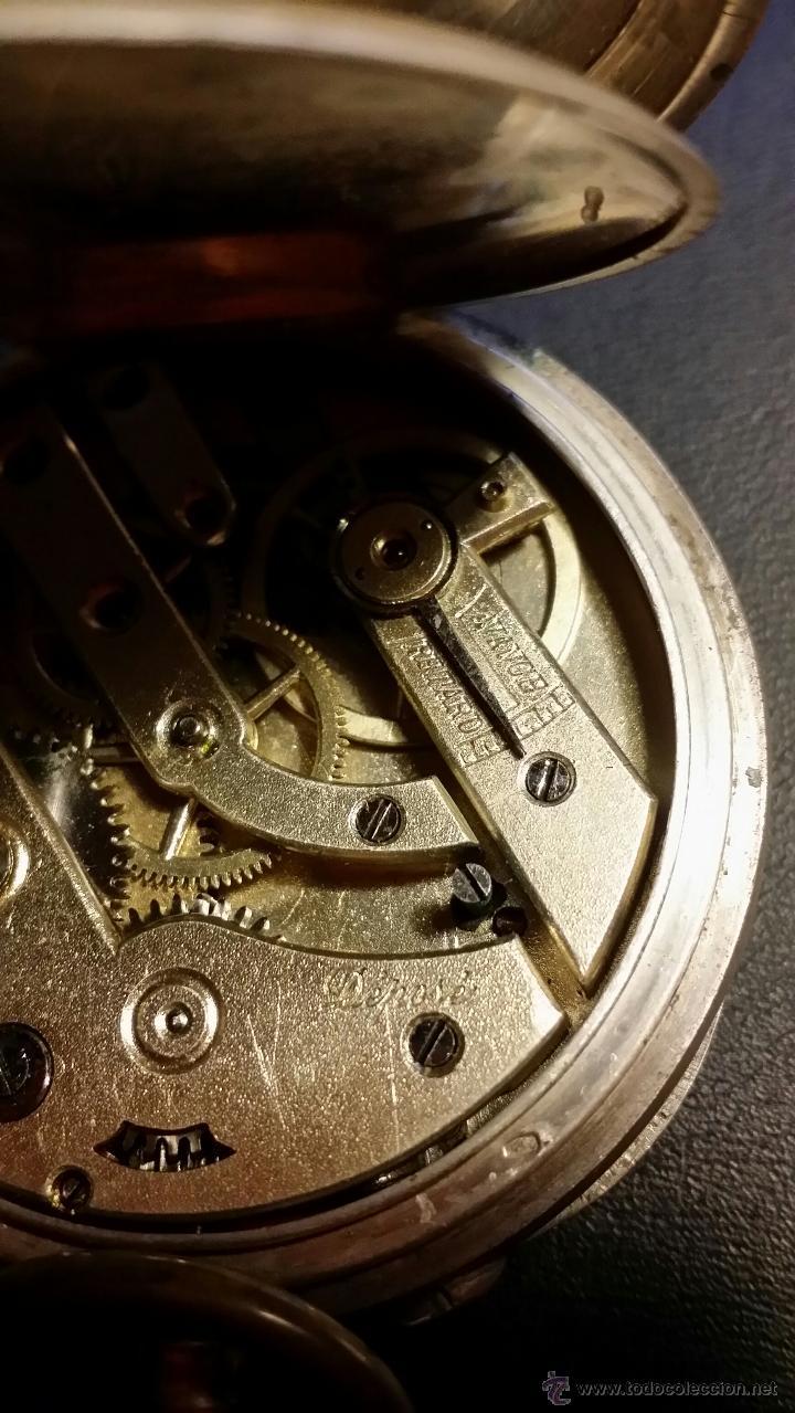 Relojes de bolsillo: reloj de bolsillo remontoir cylindre 10 / plata 800 - Foto 8 - 53374802