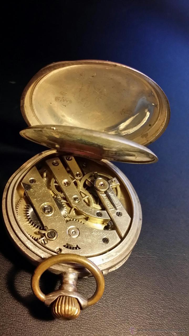 Relojes de bolsillo: reloj de bolsillo remontoir cylindre 10 / plata 800 - Foto 11 - 53374802