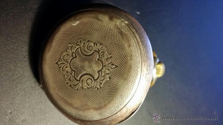 Relojes de bolsillo: reloj de bolsillo remontoir cylindre 10 / plata 800 - Foto 12 - 53374802