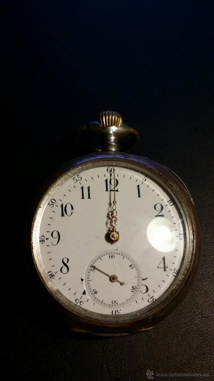 Relojes de bolsillo: reloj de bolsillo remontoir cylindre 10 / plata 800 - Foto 13 - 53374802